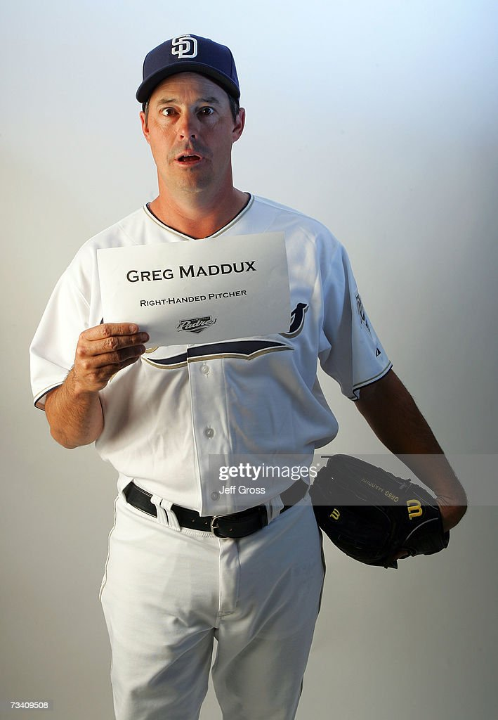 Pitcher Greg Maddux #30 of the San Diego Padres poses for a portrait during San Diego Padres Photo Day at the Peoria Sports Complex on February 23, 2007 in Peoria, Arizona.