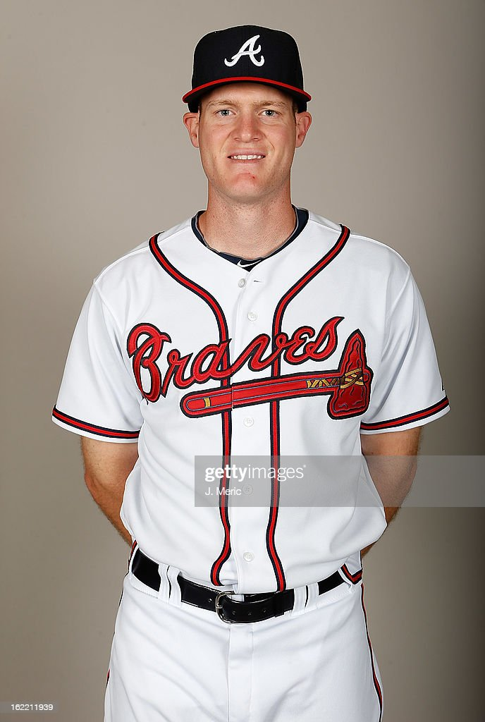Pitcher Gus Schlosser #81 of the Atlanta Braves poses for a photo during photo day at Champion Stadium at the ESPN Wide World of Sports Complex at Walt Disney World on February 20, 2013 in Lake Buena Vista, Florida.