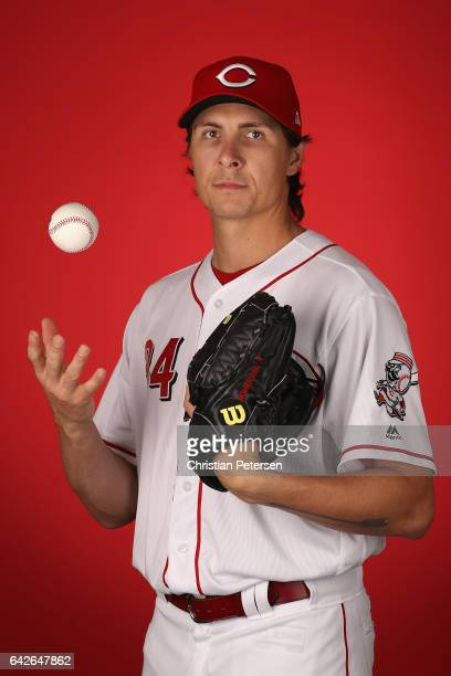 Pitcher Homer Bailey of the Cincinnati Reds poses for a portait during a MLB photo day at Goodyear Ballpark on February 18 2017 in Goodyear Arizona