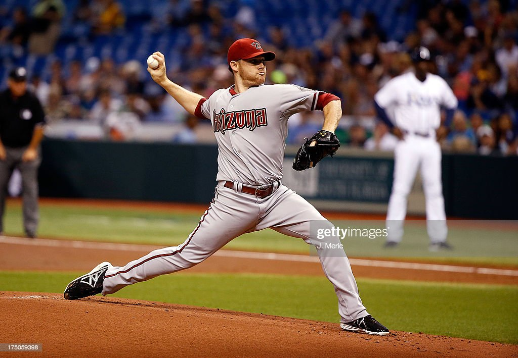 Pitcher Ian Kennedy #31 of the Arizona Diamondbacks pitches against the Tampa Bay Rays during the game at Tropicana Field on July 30, 2013 in St. Petersburg, Florida.