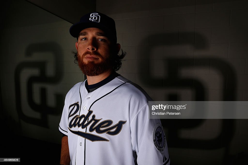 Pitcher Ian Kennedy #22 of the San Diego Padres poses for a portrait during spring training photo day at Peoria Stadium on March 2, 2015 in Peoria, Arizona.