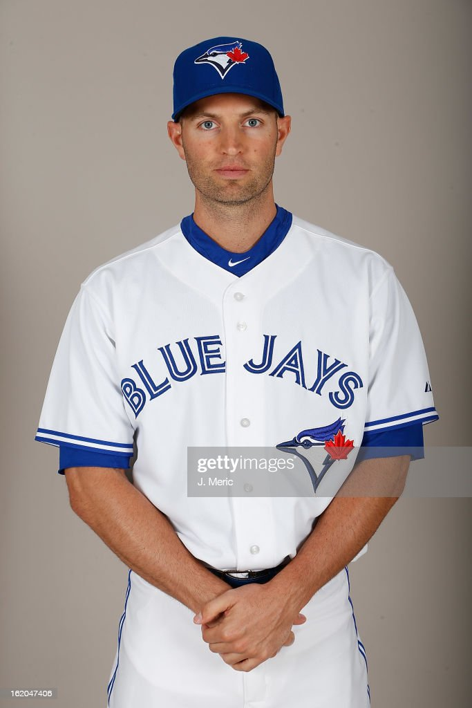 Pitcher J.A. Happ #48 of the Toronto Blue Jays poses for a photo during photo day at Florida Auto Exchange Stadium on February 18, 2013 in Dunedin, Florida.