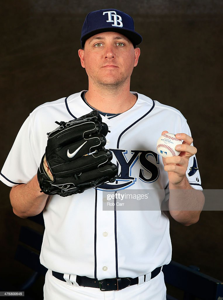 Pitcher <a gi-track='captionPersonalityLinkClicked' href=/galleries/search?phrase=Jake+McGee+-+Baseball+Player&family=editorial&specificpeople=15096866 ng-click='$event.stopPropagation()'>Jake McGee</a> #57 of the Tampa Bay Rays poses for a portrait at Charlotte Sports Park during photo day on February 26, 2014 in Port Charlotte, Florida.