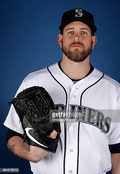Pitcher James Paxton of the Seattle Mariners poses for a portrait during spring training photo day at Peoria Stadium on February 26 2015 in Peoria...