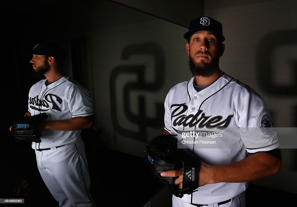 Pitcher James Shields #33 of the San Diego Padres poses for a portrait during spring training photo day at Peoria Stadium on March 2, 2015 in Peoria, Arizona.