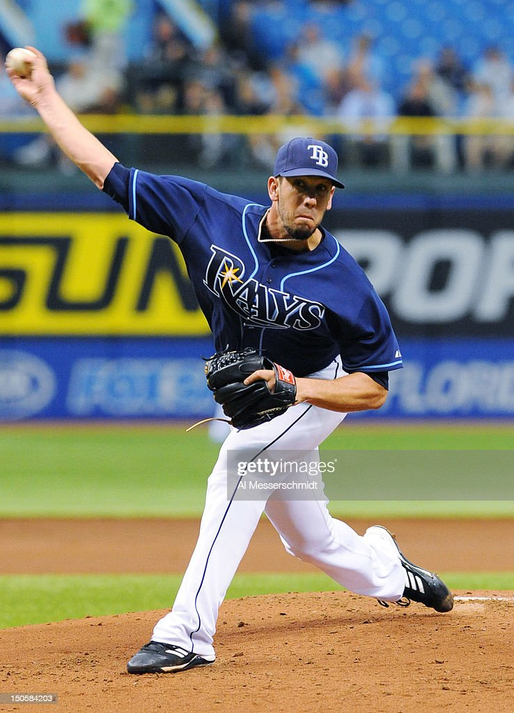 Pitcher James Shields #33 of the Tampa Bay Rays starts against the Kansas City Royals August 22, 2012 at Tropicana Field in St. Petersburg, Florida.