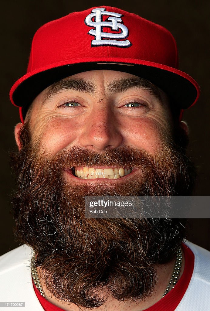 Pitcher Jason Motte of the St Louis Cardinals poses for a portrait during photo day at Roger Dean Stadium on February 24 2014 in Jupiter Florida