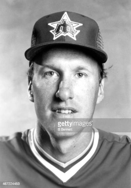 Pitcher Jim Beattie of the Seattle Mariners poses for a portrait in March 1984 in Seattle Washington