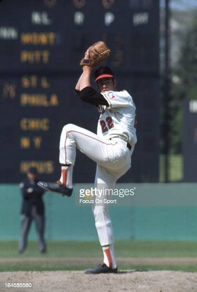 Pitcher Jim Palmer of the Baltimore Orioles pitches during an Major League Baseball game circa 1969 at Memorial Stadium in Baltimore Maryland Palmer...