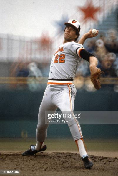 Pitcher Jim Palmer of the Baltimore Orioles pitches during an Major League Baseball game circa 1978 Palmer played for the Orioles from 196584