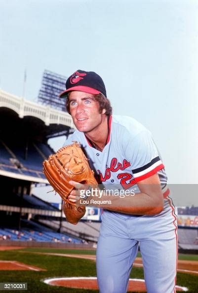 Pitcher Jim Palmer of the Baltimore Orioles poses for a portrait on the field during the 1973 MLB season