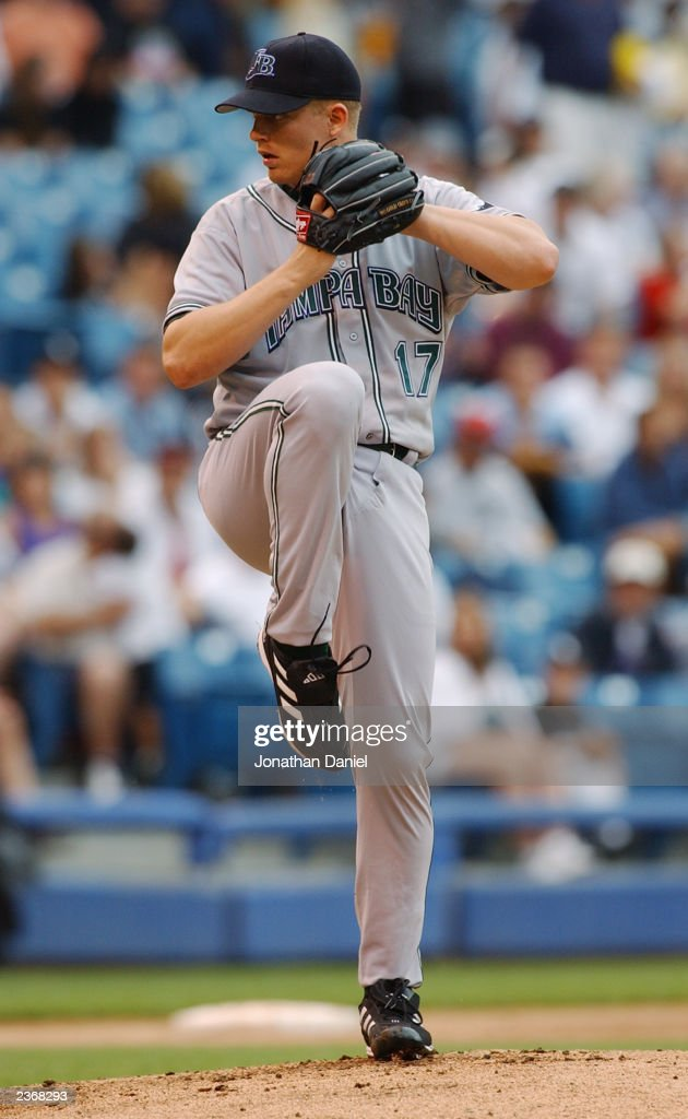 Pitcher Joe Kennedy of the Tampa Bay Devil Rays delivers against the Chicago White Sox during the MLB game at US Cellular Field on July 27 2003 in...