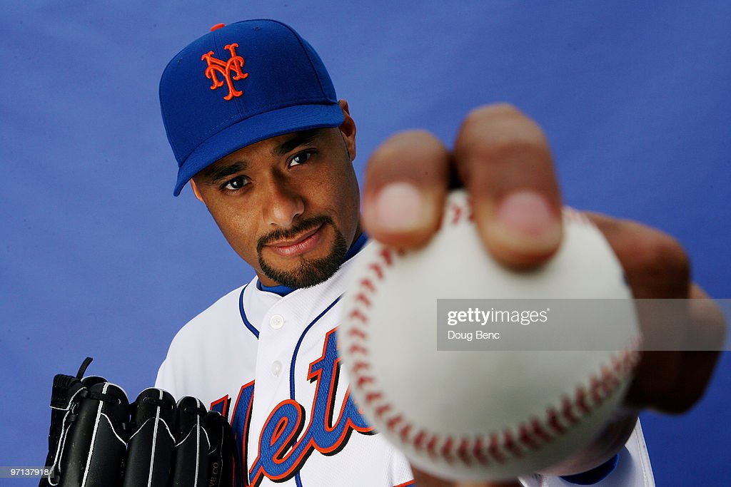 Pitcher Johan Santana #57 of the New York Mets poses during photo day at Tradition Field on February 27, 2010 in Port St. Lucie, Florida.
