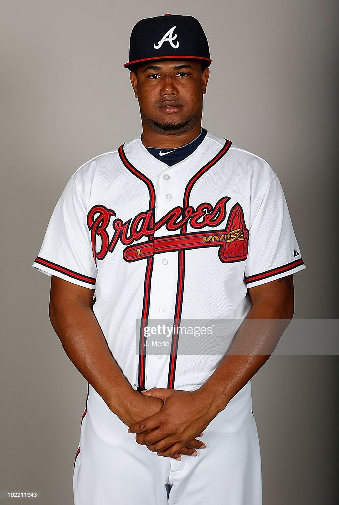 Pitcher Juan Jaime #63 of the Atlanta Braves poses for a photo during photo day at Champion Stadium at the ESPN Wide World of Sports Complex at Walt Disney World on February 20, 2013 in Lake Buena Vista, Florida.