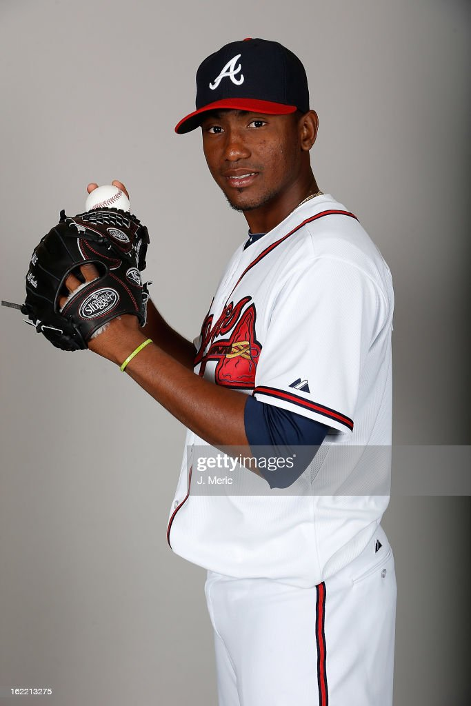Pitcher Julio Teheran #49 of the Atlanta Braves poses for a photo during photo day at Champion Stadium at the ESPN Wide World of Sports Complex at Walt Disney World on February 20, 2013 in Lake Buena Vista, Florida.