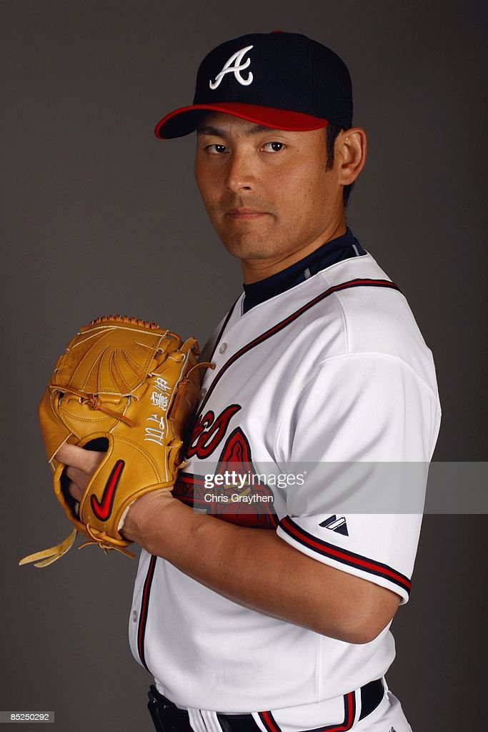 Pitcher Kenshin Kawakami of the Atlanta Braves poses for a photo during Spring Training Photo Day on February 19 2009 at Champions Stadium at Walt...