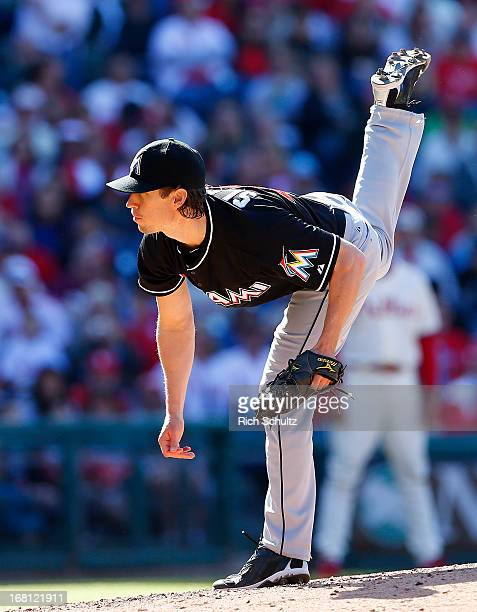Pitcher Kevin Slowey delivers a pitch against the Philadelphia Phillies in a MLB baseball game on May 5 2013 at Citizens Bank Park in Philadelphia...