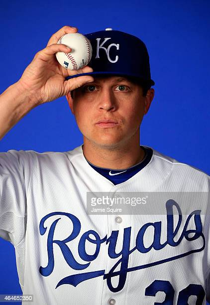 Pitcher Kris Medlen poses during Kansas City Royals Photo Day on February 27 2015 in Surprise Arizona