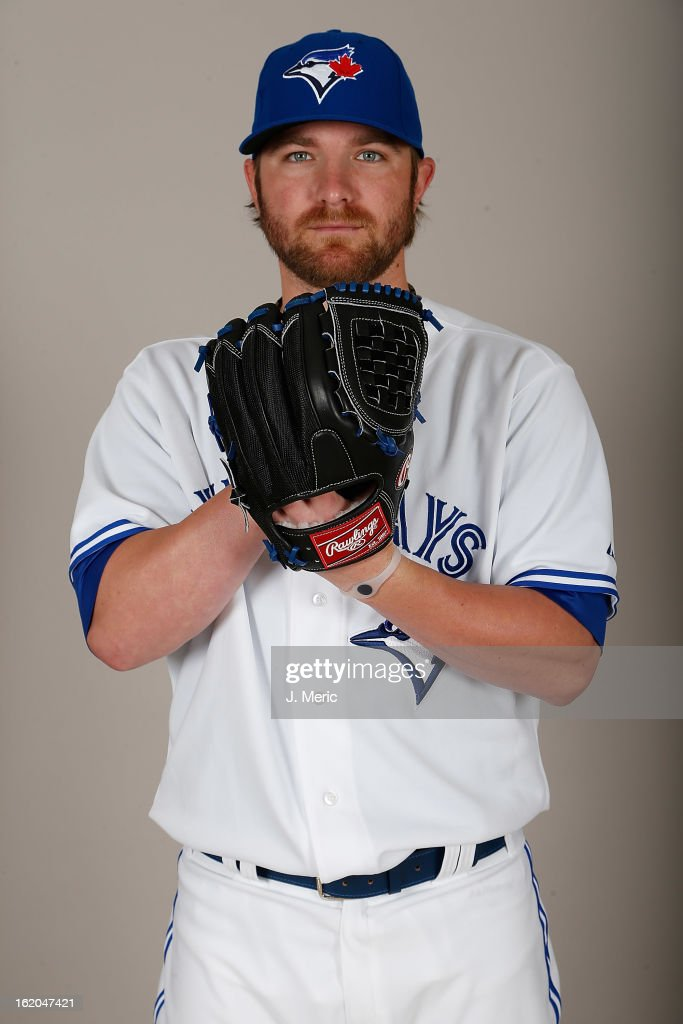 Pitcher Kyle Drabek #4 of the Toronto Blue Jays poses for a photo during photo day at Florida Auto Exchange Stadium on February 18, 2013 in Dunedin, Florida.