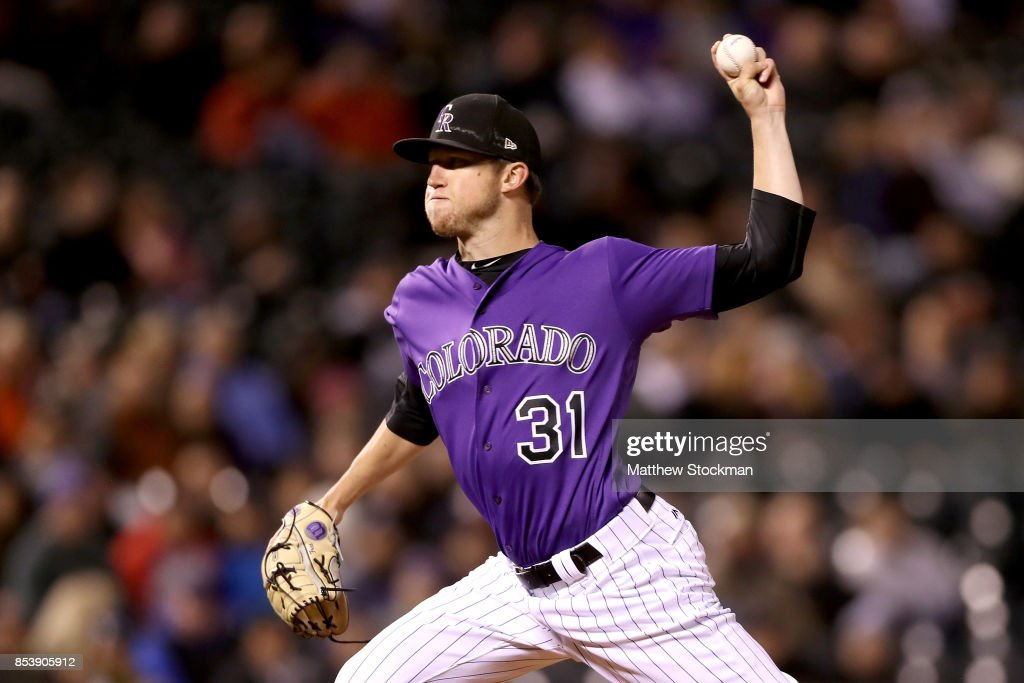 Pitcher Kyle Freeland #31 of the Colorado Rockies throws in the sixth inning against the Miami Marlins at Coors Field on September 25, 2017 in Denver, Colorado.