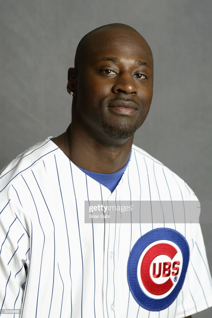 Pitcher LaTroy Hawkins of the Chicago Cubs poses for a picture during Cubs Photo Day at Fitch Park on February 28 2004 in Mesa Arizona
