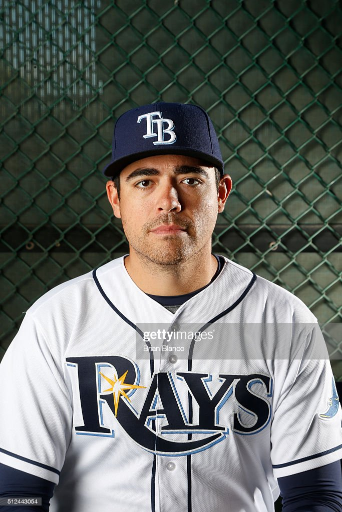 Pitcher <a gi-track='captionPersonalityLinkClicked' href=/galleries/search?phrase=Matt+Moore+-+Baseball+Player&family=editorial&specificpeople=15003307 ng-click='$event.stopPropagation()'>Matt Moore</a> #55 of the Tampa Bay Rays poses for a photo during the Rays' photo day on February 25, 2016 at Charlotte Sports Park in Port Charlotte, Florida.