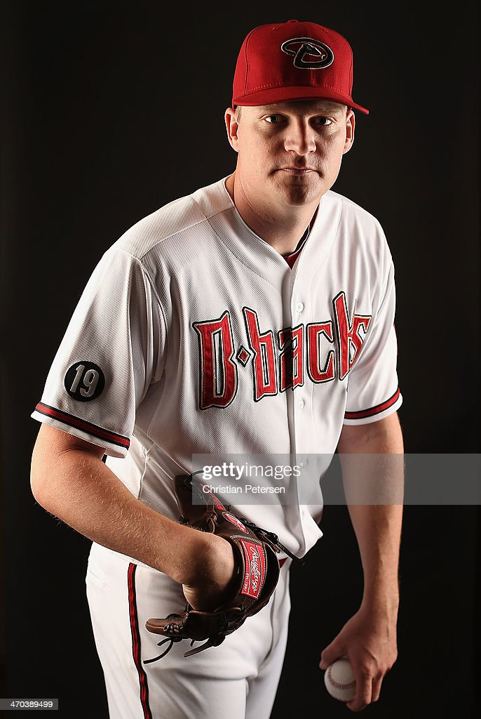 Pitcher <a gi-track='captionPersonalityLinkClicked' href=/galleries/search?phrase=Matt+Reynolds+-+Baseball+Player&family=editorial&specificpeople=5520752 ng-click='$event.stopPropagation()'>Matt Reynolds</a> #45 of the Arizona Diamondbacks poses for a portrait during spring training photo day at Salt River Fields at Talking Stick on February 19, 2014 in Scottsdale, Arizona.