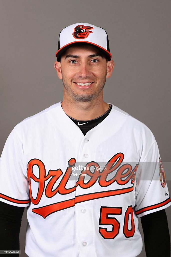 Pitcher Miguel Gonzalez #50 of the Baltimore Orioles poses on photo day at Ed Smith Stadium on March 1, 2015 in Sarasota, Florida.