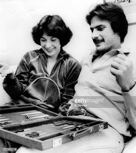 Pitcher Mike Flanagan of the Baltimore Orioles plays backgammon at home with his wife Kathy who won 23 games the most in the majors on October 30...