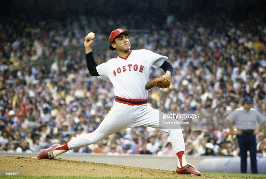Pitcher Mike Torrez of the Boston Red Sox pitches against the New York Yankees during an Major League Baseball game circa 1978 at Yankee Stadium in the Bronx borough of New York City. Torrez played for the Red Sox from 1978-82.
