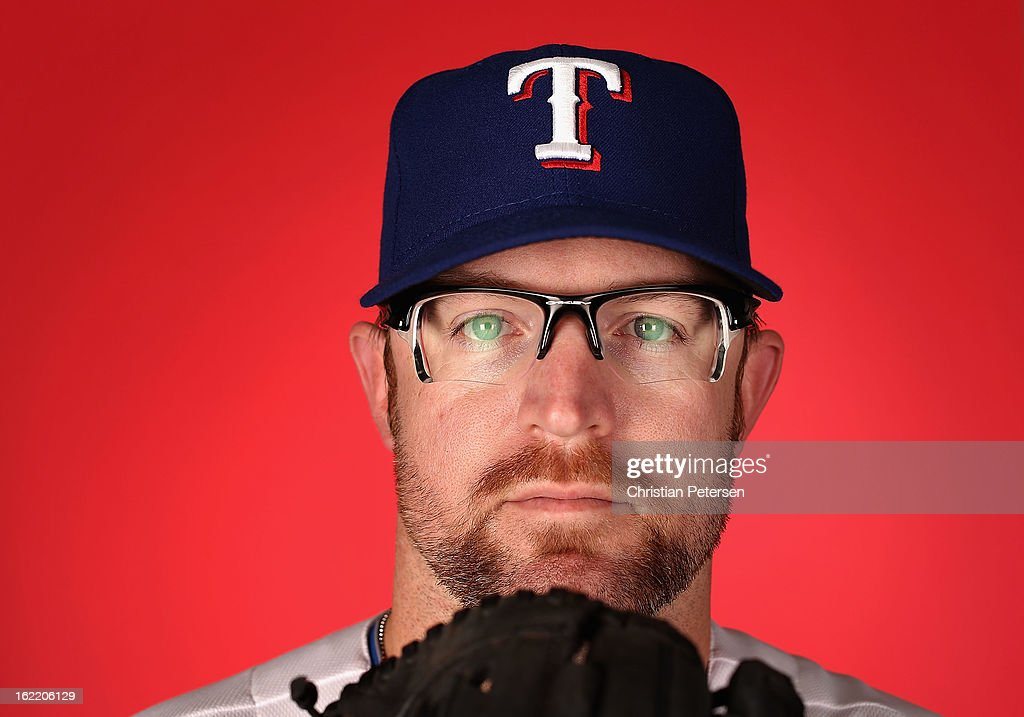 Pitcher Nate Robertson #32 of the Texas Rangers poses for a portrait during spring training photo day at Surprise Stadium on February 20, 2013 in Surprise, Arizona.