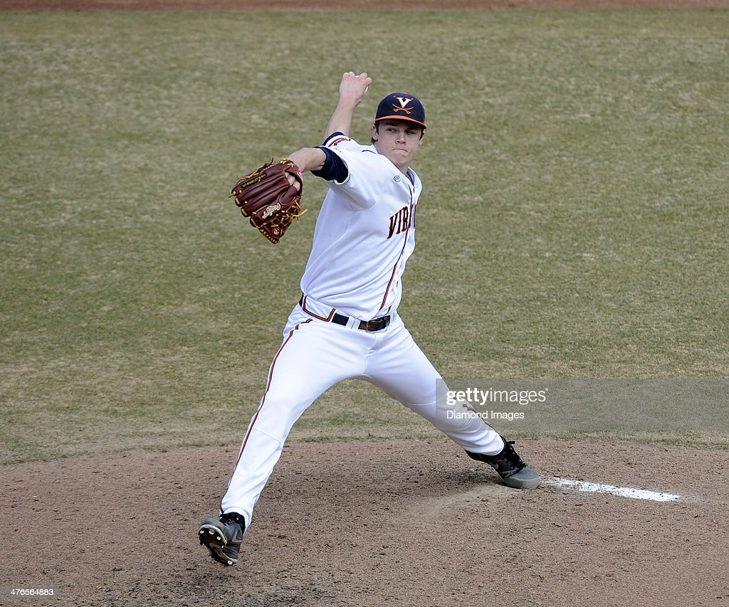 Pitcher Nathan Kirby #19 of the University of Virginia Cavaliers throws a pitch during the top of the fourth inning of a game on March 1, 2014 against the Monmouth University Hawks at Davenport Field on the campus of the University of Virginia in Charlottesville, VA.
