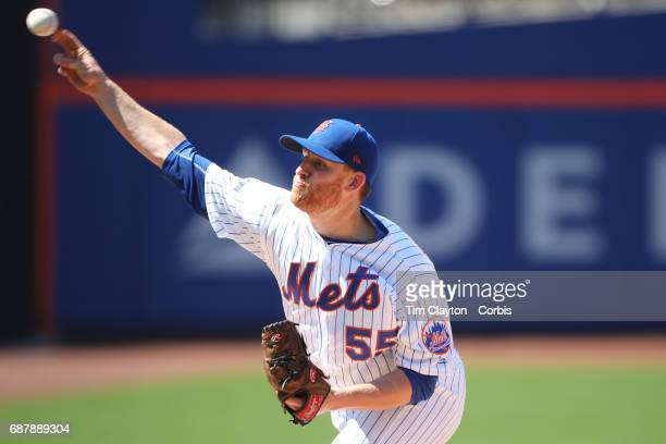 Pitcher Neil Ramirez of the New York Mets pitching during the Los Angeles Angeles Vs New York Mets regular season MLB game at Citi Field on May 21...