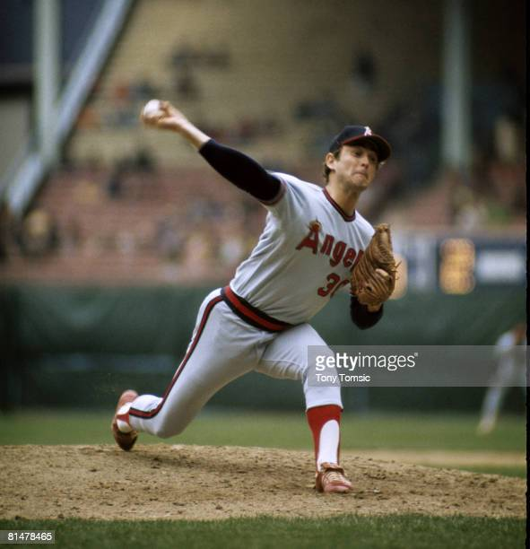 Pitcher Nolan Ryan of the California Angels