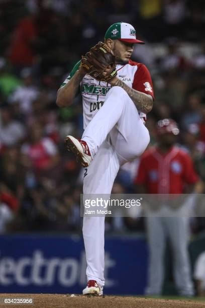 Pitcher of Mexico Hector Velazquez delivers a pitch during the final game between Mexico and Puerto Rico in the Baseball Caribbean Series Culiacan...