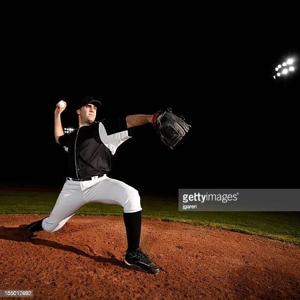 Pitcher (baseball action shot) on mound