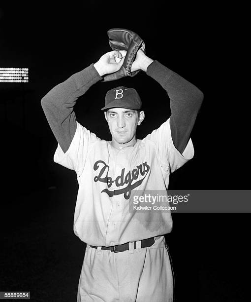 Pitcher Ralph Branca of the Brooklyn Dodgers poses for a portrait prior to a game in 1952 at Ebbets Field in Brooklyn New York Branca says he's not...