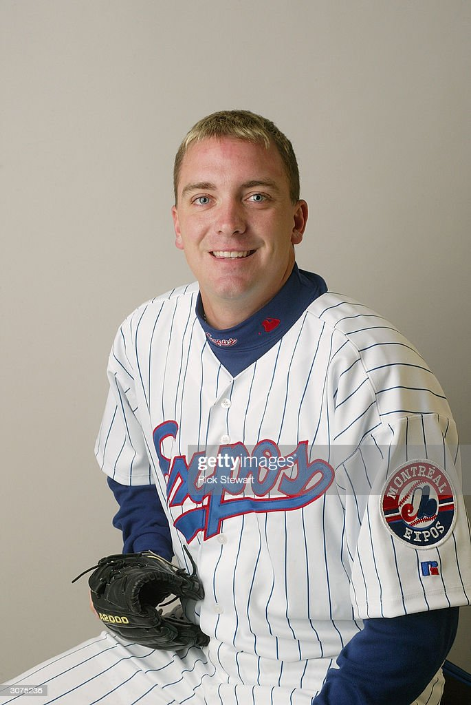 Pitcher Randy Choate #21 of the Montreal Expos poses for a photo during Media Day at Space Coast Stadium on February 28, 2004 in Viera, Florida.