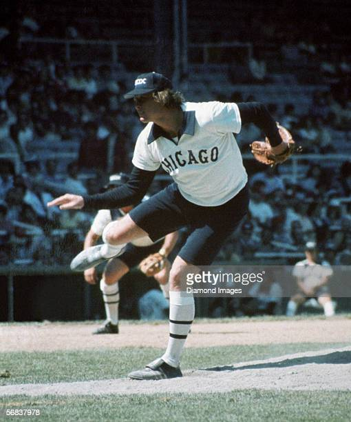 Pitcher Rich 'Goose' Gossage of the Chicago White Sox throws a pitch during a game in 1976 at Comiskey Park in Chicago Illinois