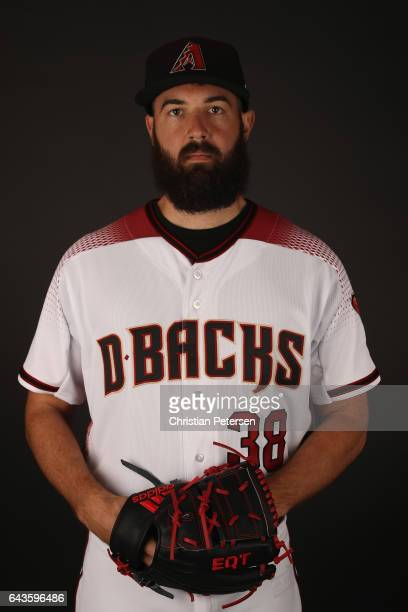Pitcher Robbie Ray of the Arizona Diamondbacks poses for a portrait during photo day at Salt River Fields at Talking Stick on February 21 2017 in...