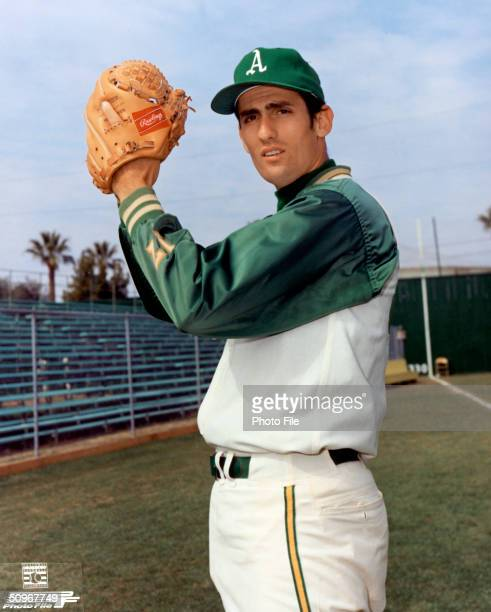 Pitcher Rollie Fingers of the Oakland Athletics poses for an action portrait Fingers played for the A's from 19681976