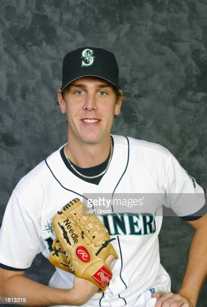 Pitcher Ryan Anderson of the Seattle Mariners poses for a portrait during the Mariners' spring training Media Day on February 19 2003 at Peoria...