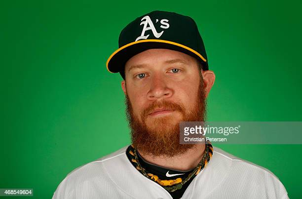 Pitcher Sean Doolittle of the Oakland Athletics poses for a portrait during the spring training photo day at HoHoKam Stadium on February 28 2015 in...