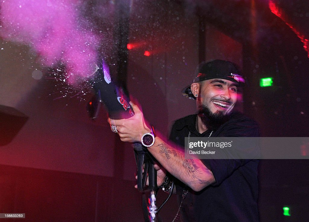 Pitcher Sergio Romo of the San Francisco Giants attends Haze Nightclub at the Aria Resort & Casino at CityCenter on December 30, 2012 in Las Vegas, Nevada.