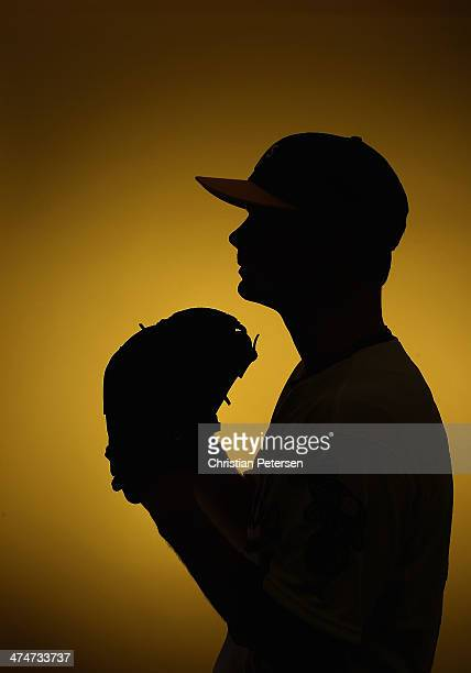 Pitcher Sonny Gray of the Oakland Athletics poses for a portrait during the spring training photo day at Phoenix Municipal Stadium on February 22...