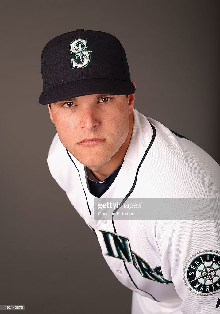 Pitcher Stephen Pryor #46 of the Seattle Mariners poses for a portrait during spring training photo day at Peoria Stadium on February 19, 2013 in Peoria, Arizona.