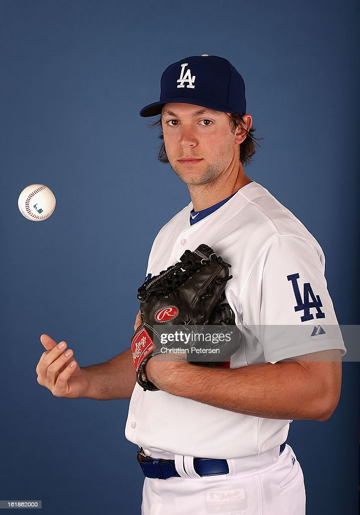 Pitcher Steven Ames #79 of the Los Angeles Dodgers poses for a portrait during spring training photo day at Camelback Ranch on February 17, 2013 in Glendale, Arizona.