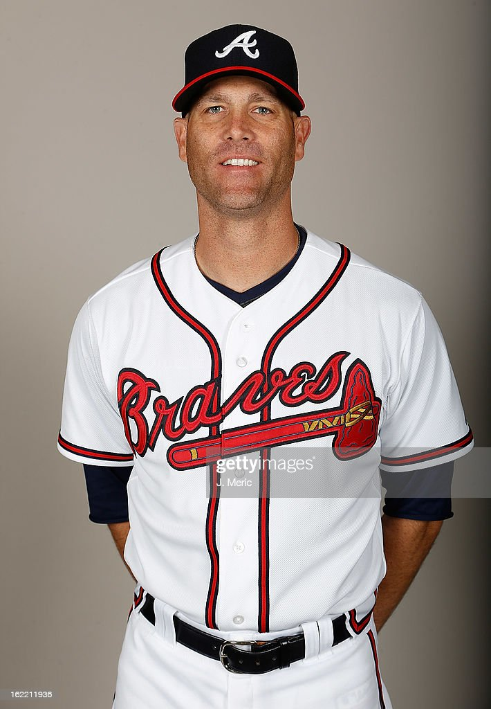 Pitcher Tim Hudson #15 of the Atlanta Braves poses for a photo during photo day at Champion Stadium at the ESPN Wide World of Sports Complex at Walt Disney World on February 20, 2013 in Lake Buena Vista, Florida.