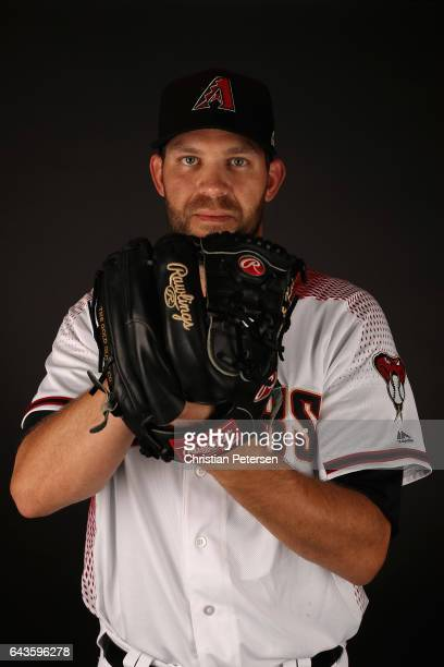 Pitcher Tom Wilhelmsen of the Arizona Diamondbacks poses for a portrait during photo day at Salt River Fields at Talking Stick on February 21 2017 in...