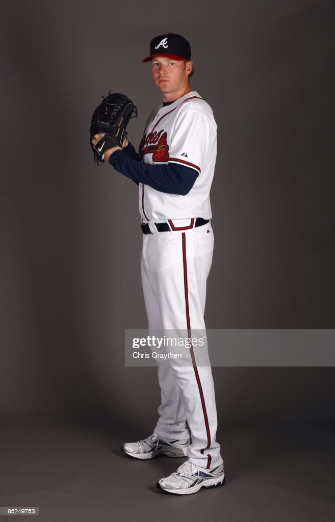 Pitcher Tommy Hanson of the Atlanta Braves poses for a photo during Spring Training Photo Day on February 19 2009 at Champions Stadium at Walt Disney...